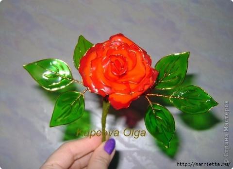 Цветы из витражных красок. М…
