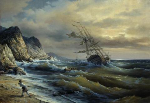 Бушующее море