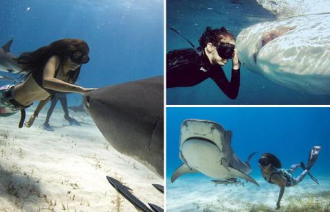 Девушка из Австралии плавает…