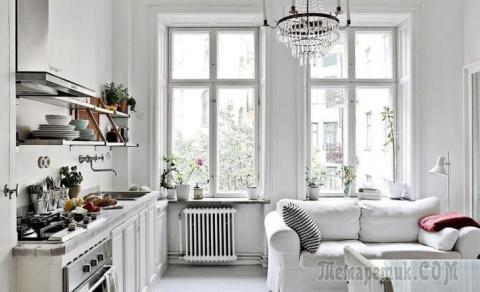Скандинавская двушка с печью, 50 м²