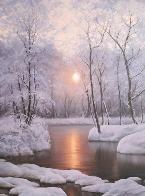 Невероятно красивые зимние пейзажи Евгения Карловича