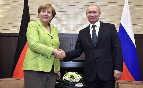 Встреча с Федеральным канцлером Германии Ангелой Меркель, через 42мин. телефонный разговор с Президентом США Дональдом Трампом