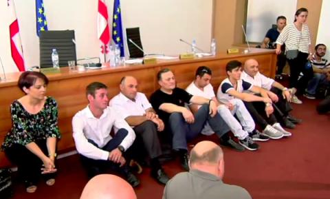 Грузинские оппозиционеры под…