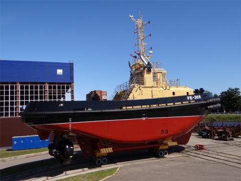 ЛСЗ «Пелла» спустил на воду очередной буксир проекта 16609