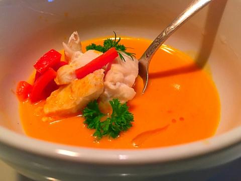 Рыбный суп Ла мэр, крем-фреш. И маленькая прогулка по Инсбруку