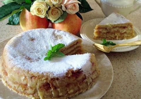 Яблочный пирог «3 стакана». …
