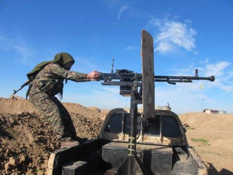 Огневая мощь САА: кадры разгрома позиций повстанцев в Айн-Тарма