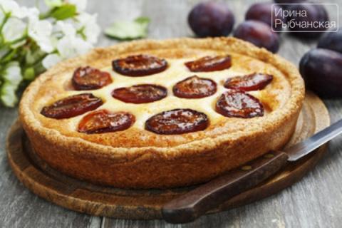 Пирог со сливами быстро и пр…