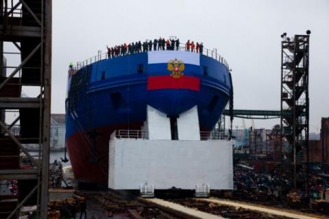 Спущен на воду ледокол «Виктор Черномырдин»