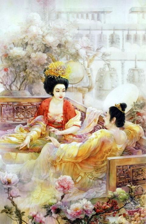 Китайская живопись Ji Shuwen