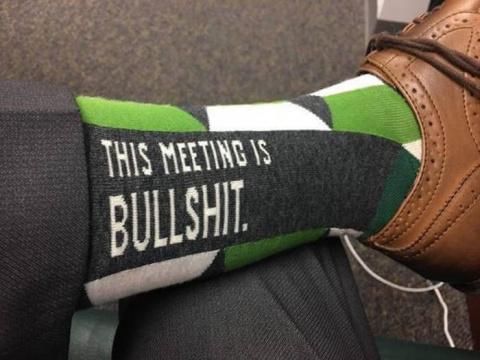 Носки это совещание полное дерьмо