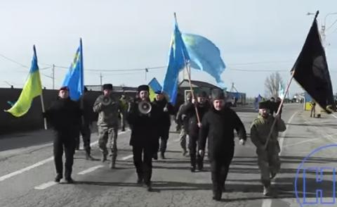 Исламисты и украинцы устроили шабаш на границе с Крымом