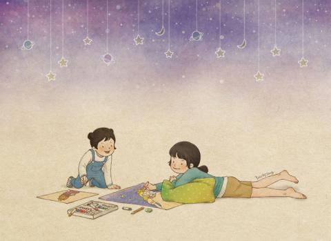 Детство с сестренкой в комиксах корейской художницы