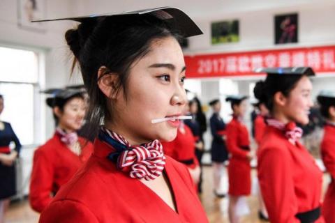 В китайской школе стюардесс