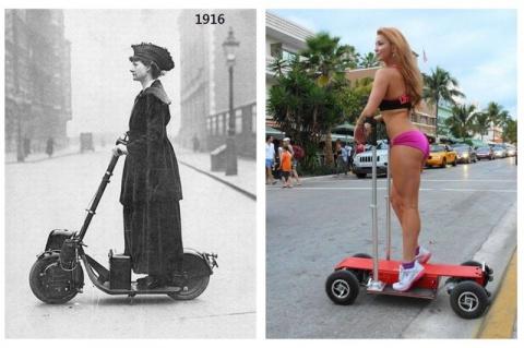 Тогда и сейчас: женщины на улицах