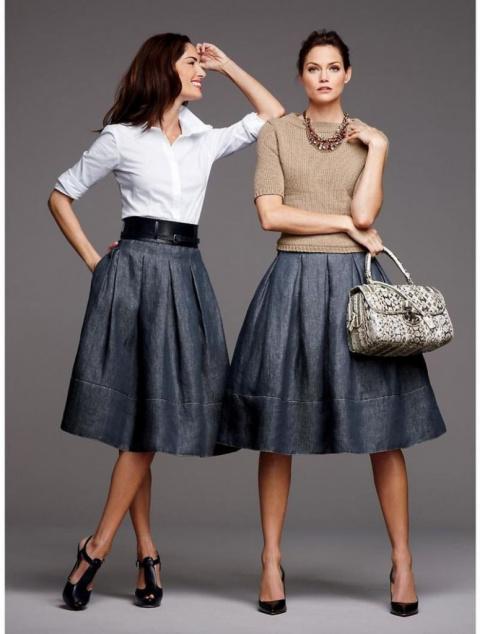 С чем носить платья и юбки в…