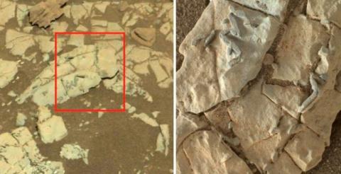 На Марсе обнаружены следы пришельцев
