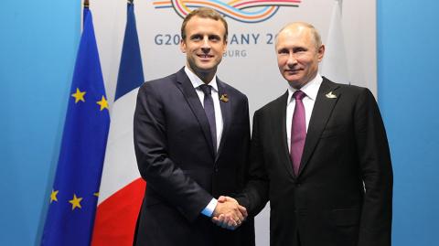 Макрон: сотрудничество РФ и Франции по Сирии вышло на новый уровень