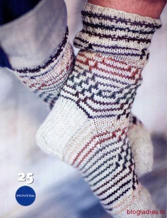 Мужские носки с жаккардовым узором