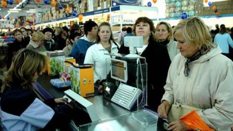 Стою на кассе, в супермаркет…