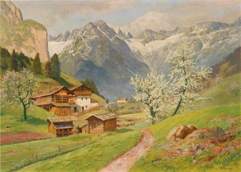 Весна в альпийской деревне ... Alois Arnegger