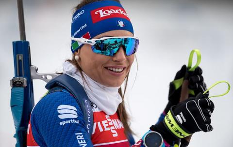 Итальянcкая биатлонистка Доротея Вирер выиграла индивидуальную гонку в Рупольдинге