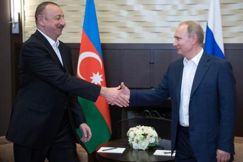 Путин встретился с президентом Азербайджана в Сочи