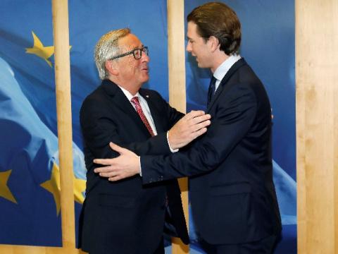 Молодой австрийский премьер …