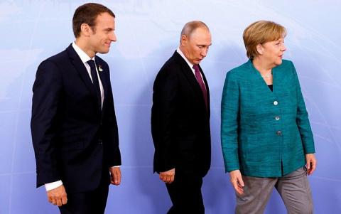 Украина пытается сорвать разговор Путина, Меркель и Макрона