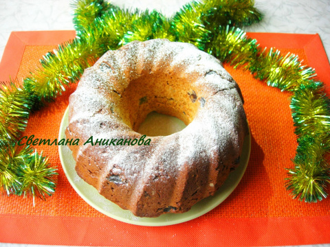 Имбирный кекс с изюмом и цукатами (без сахара)