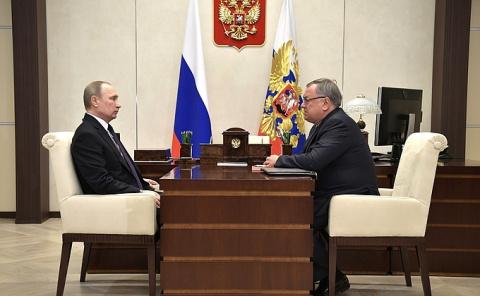 Встреча с президентом – председателем правления Банка ВТБ Андреем Костиным -/- НОВОСТИ НЕДЕЛИ