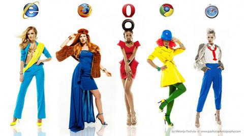 Если бы интернет-браузеры были девушками