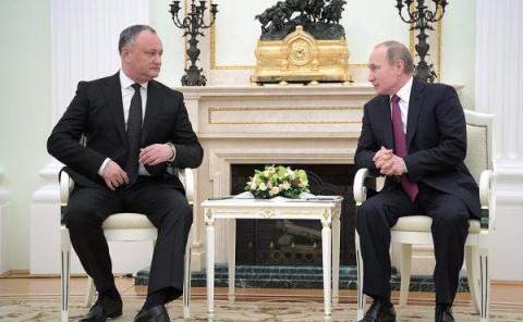 Додон после встречи с Путины…