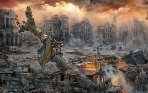 Киев сегодня - павильон с декорациями фильма ужасов