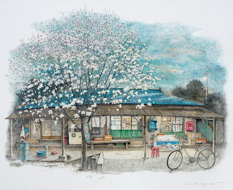 Корейская художница уже 20 л…