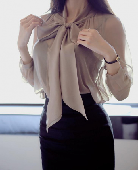 Модные блузки из шифона — актуальные оттенки и новинки 2017