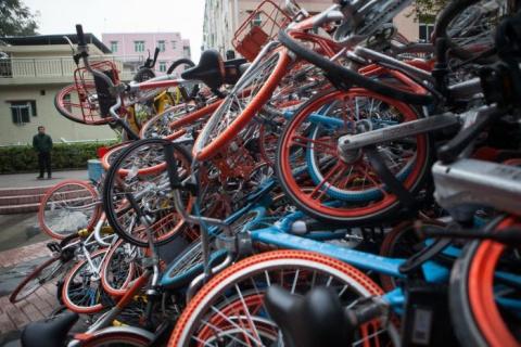 «Свалки» прокатных велосипед…
