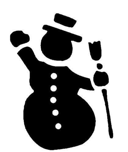 Веселые снеговики: шаблоны и трафареты