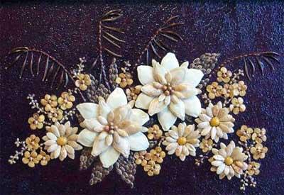 Мозаика из семян