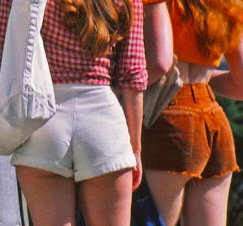 Женский уличный стиль 70-х годов