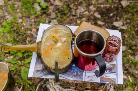 """""""Ленивый"""" суп из скумбрии"""