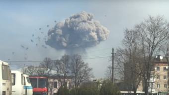С горящих складов на Украине…