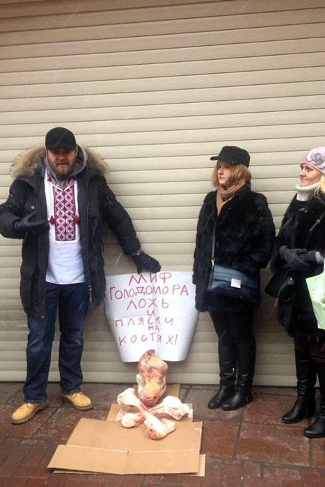 Москвичи сорвали показ фильм о голодоморе