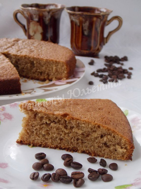 Быстрый кофейный пирог на кефире
