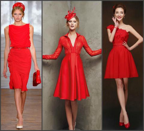 Встречаем Новый год в красном платье