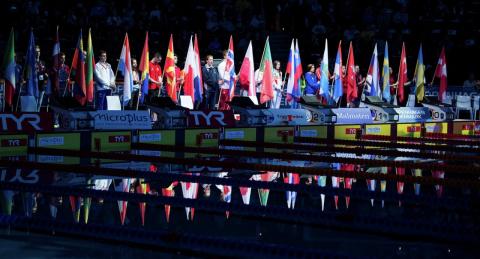 Российские пловцы стали первыми в кролевой эстафете 4 по 50 м на ЧЕ