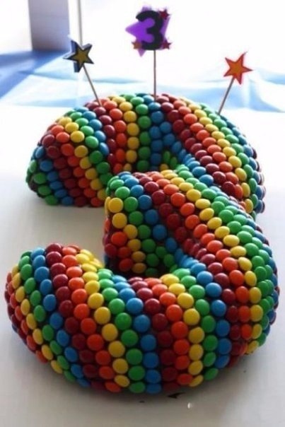 ПАМЯТКА. Как сделать торт в виде цифры