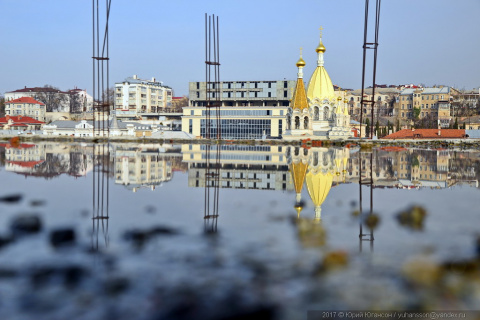 Севастополь. Лужи на высоте