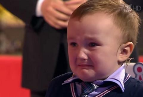 3-летний малыш расплакался, …