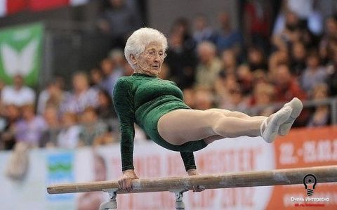91-летняя гимнастка, заслужи…